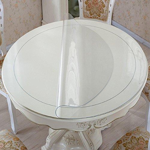 GAOJIAN Tissu à Table Ronde Imperméable et étanche au PVC Mosaïque à Table en Verre moulé Moule à Table en Cristal Plat en Plastique Mats à café en Plastique, a, 110cm Circle