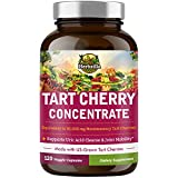 Herbzilla Organic Tart Cherry Concentrate, 60:1 Concentrated Montmorency Tart Cherry Extract, Rich in Nutrients, Polyphenols, Vegan, Non-GMO, Uric Acid Cleanse, Supports Joint, Sleep & Muscle Recovery