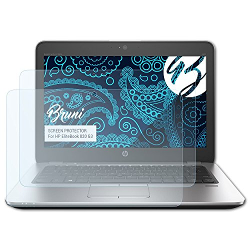 Bruni Schutzfolie kompatibel mit HP EliteBook 820 G3 Folie, glasklare Bildschirmschutzfolie (2X)