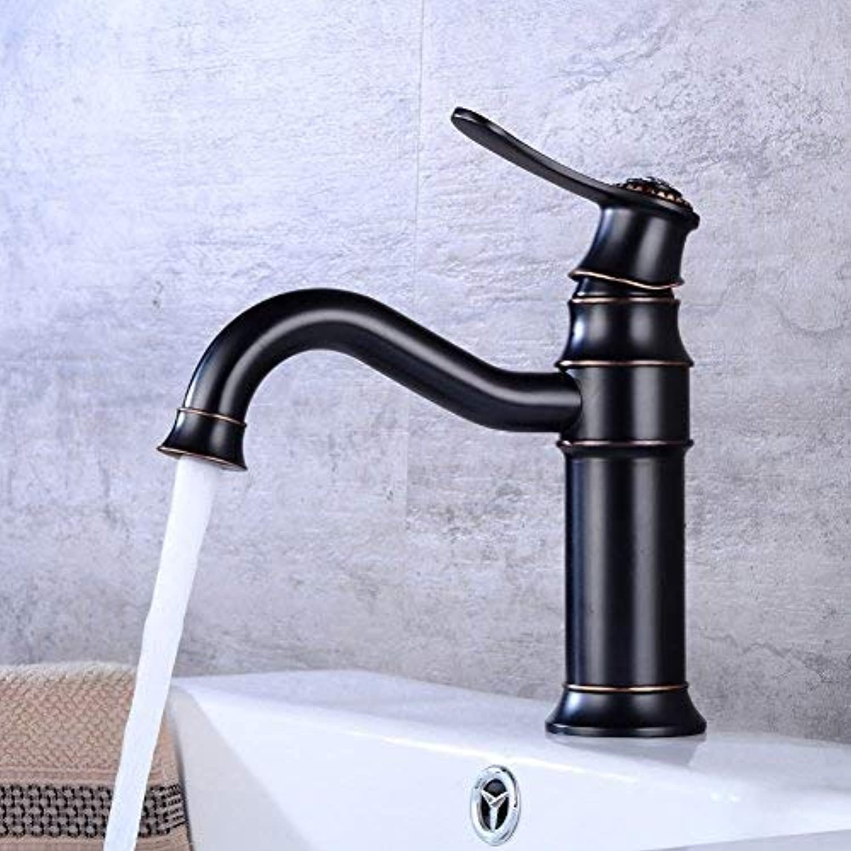 ZHAS Wasserhahn Vintage Waschbecken Wasserhahn Unterbau Waschbecken Drehhahn europischen Stil Bad Wasserhahn Becken heien und kalten Wasserhahn