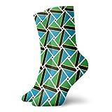 yting Calcetines casuales de la bandera de Tanzania Armadura Calcetines de tobillo Vestido corto Calcetines de compresión para mujeres Hombres