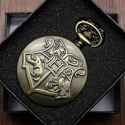 BOOSSONGKANG Reloj de Bolsillo Retro Black Fullmetal Steampunk Spider Web Potter Attack On Titan Style Reloj de Bolsillo de Cuarzo Homb