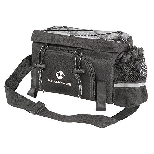 M-Wave Uni Uitbreidbare bagagedragertas, Amsterdam Exp, zwart/zilver