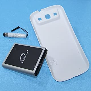 High Capacity 3.8V Li-ion 7300mAh Extended Battery Back Cover Pen for AT&T Samsung Galaxy S III I9300 SGH-I747 Mobile Phone