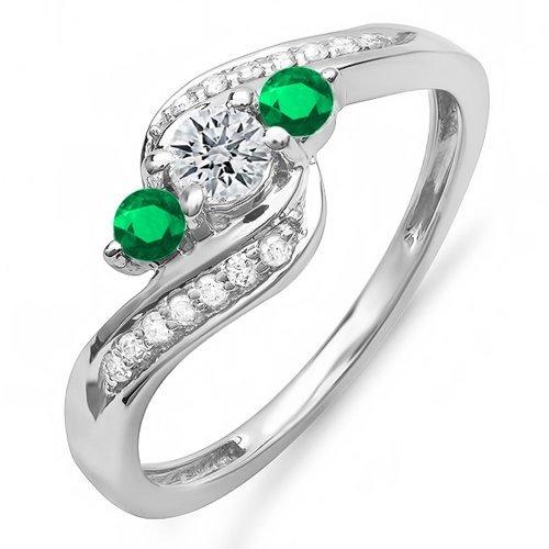 Anillos De Compromiso Oro Blanco Y Diamantes Precios marca Dazzlingrock Collection