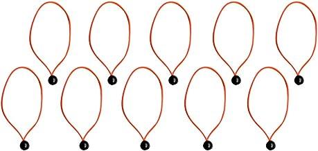 T TOOYFUL 10-delige set rubberen spanners, tentrubbers, spanrubbers met kogeltent, bevestigingskoord