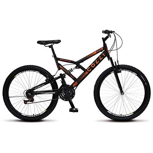 Bicicleta Aro 26 Dupla Suspensão 21m 36r Colli Preto