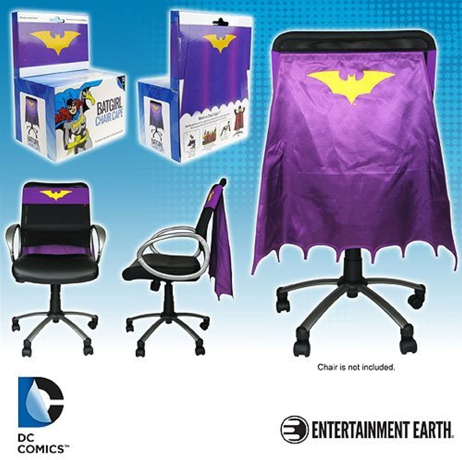 Batgirl Yellow and Lavender Chair Cape by Entertainment Earth
