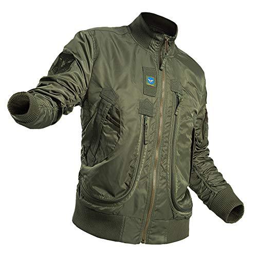 Nylon MA-1 Veste de vol de Haute résistance en Nylon Polyester Fibre d'eau Moteur Vêtements usables Veste de Style Simple en col