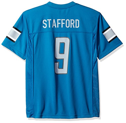 NFL Youth Boys 8-20 Matthew Stafford Detroit Lions Player Name & Number Jersey, Large/(14-16), Lions Blue