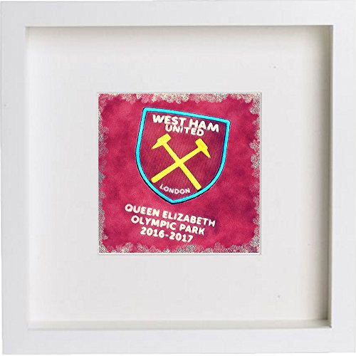 L Lumartos Wall Art Watercolor Print van West Ham United Football Club Crest Badge 207, Wit, One Size