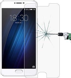 LIAOXIGAN Härdat glasfilm 100 st för Meizu U20 0,26 mm 9H ythårdhet 2,5D explosionssäker skärmskydd i härdat glas