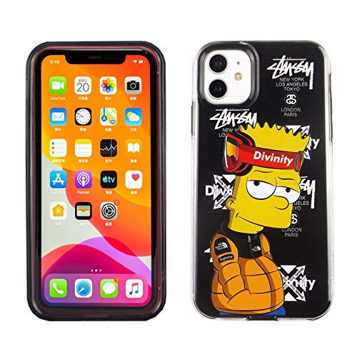 iPhone 11 6.1 Inch Dual Slim Case CASEVEREST 3D Print Cover TV Show Simpsons Bart Simpson with Headband IP 11 PC + TPU