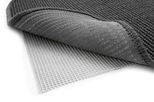Primaflor - Ideen in Textil Antirutschmatte Teppichunterlage Gitter Grau - 60 x 130 cm Zuschneidbar, Fußbodenheizung Geeignet, Waschbar, Teppichstopper Teppichgleitschutz Anti-Rutsch-Unterlage