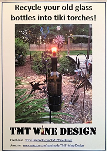 Tiki Torch kit - Recycle your old glass bottles into torches! Includes all COPPER fittings and cap/cover!