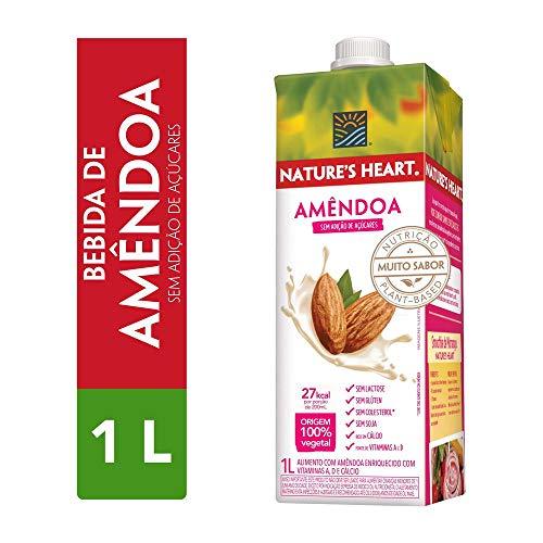 Bebida Vegetal, Natures Heart, Amêndoa, 1L