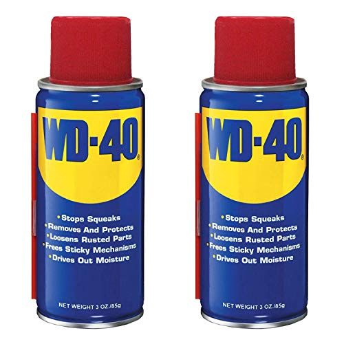 WD-40 Multi Use Lubricant On the Go Handy Can with Straw, 3 Ounce (2 Pack)