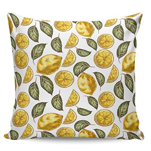 Winter Rangers Fundas de almohada decorativas, diseño de limón, minimalismo, estilo artístico de graffiti, funda de cojín corta para sofá, cama, silla, ultra suave y transpirable, 66 x 66 cm