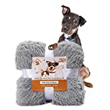 Pacapet Fluffy Dog Blanket, Soft Reversible Sherpa Throw Blanket for Pets, Puppy, Warm Shaggy Cat Fleece Blanket for Couch/Bed/Sofa Protection, Washable & Lightweight, 30'x40', Gray