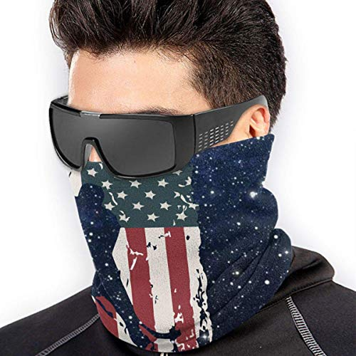 Nihaoma Hockey American Flag Mikrofaser Halswärmer Sturmhauben Soft Fleece Kopfbedeckung Gesicht Schal Abdeckung für den Winter