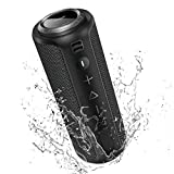 Bluetooth Speaker, SONGLOW 40W Loud Stereo Sound Portable Speaker with Rich Bass, IPX7 Waterproof, 12-Hour Playtime, BT5.0 Wireless Speaker with PartySync Tech (Sync 200+ LS01) for Home, Outdoors