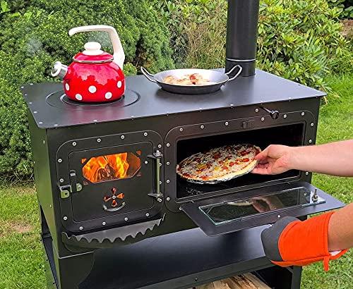"""XL Garten-Backofen\""""Elise XL\"""" mit Kochstelle Gartenküche Holzbackofen Pizza-/Brotbackofen"""