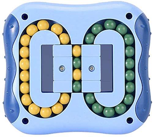 Inteligencia Fingertip - Cubo mágico, juguete de aprendizaje, juguete giratorio, para niños y adultos, juguete de plástico (azul)