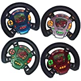 ArtCreativity Race Car Wheel water ring game, set of 4, hand steering game for kids, fun role play, racing car birthday party for kids, travel road trip toys for boys and girls