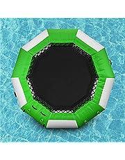 ترامبولين مائي للأطفال، بما في ذلك شرائح ترامبولين قابلة للنفخ، حدائق مائية قابلة للنفخ، وسجاد نطاطة أمان، وجوارب مائية - أنشطة حمام السباحة الصيفية للبالغين والأطفال