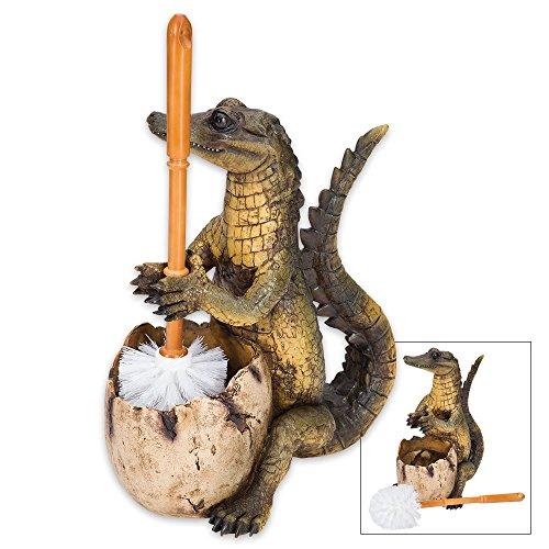 K EXCLUSIVE The Toilegator - Crocodile Toilet Brush Holder/Resin Sculpture