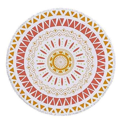 CHIYEEE Ronde Strandhanddoek Bohemen Tassel Beach Yoga Matten Sjaal Sjaal Tapestry Tafelkleed Picknic Deken 150cm * 150cm (59