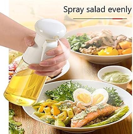 pulverizador antifugas para cocina aceites esenciales o aromaterapia Botella de spray de aceite de oliva dispensador de aceite port/átil barbacoa 210 ml