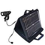 Gomadic SunVolt Powerful and Portable Solar Charger Suitable for The Cygolite Metro 420/500 - Incredible Charge speeds for up to Two Devices