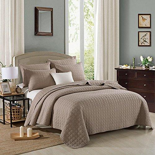 100% coton couvre-lit patchwork matelassé 3 pièces lit respirant doux , 230*250cm