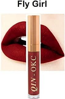 QIN - OKC Super Stay Matte Waterproof Kissproof Long Lasting Liquid Lipstick 0.25 fl oz (Fly Girl) - 64 Fashion Sense Colors