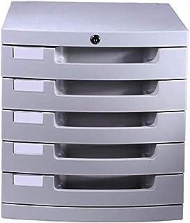 Armoires plates mobiles à 5 tiroirs de rangement de données de bureau serrure à clé en plastique 30 x 38 x 31,5 cm