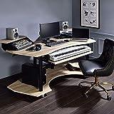 Home Office Desks, Computer Desk, Music Recording Studio Desk (Natural)