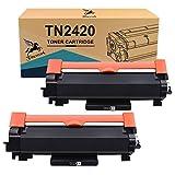 FITU WORK TN2420 TN2410 (con Chip) Cartucho Toner Compatible para Brother HL-L2310D HL-L2350DW HL-L2370DN HL-L2375DW DCP-L2510D DCP-L2350DW MFC-L2710DW MFC-L2750DW MFC-2760DW (2 x Negro)