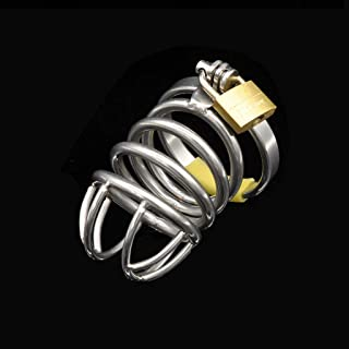 WRZ Stainless Steel Cage Metal Special Chastity Lock Men's Mini Toys Game Pillows (Size : 4.3cm Clasp)