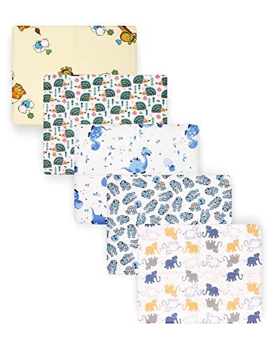 Be Mammy Baby Windelsets Stoffwindeln Mulltücher 70x80 cm 5er Pack BESD003 (Junge2 (5 Pack), 70x80)