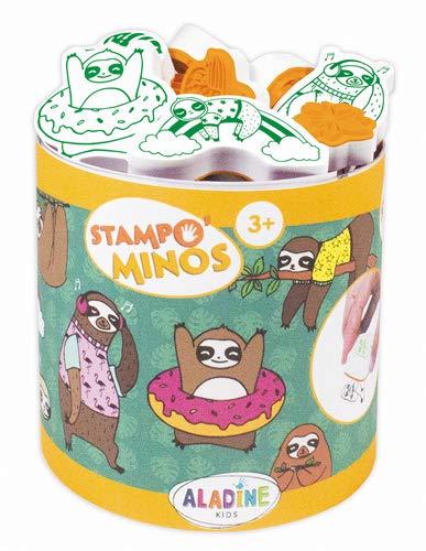 Aladine 85148 Stampo Minos Sloth Stamp Set Black