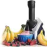 Duwen Máquina de helado de fruta imprescindible portátil, máquina de helados caseros para hacer delicioso sorbete de helado y máquina de yogur congelado