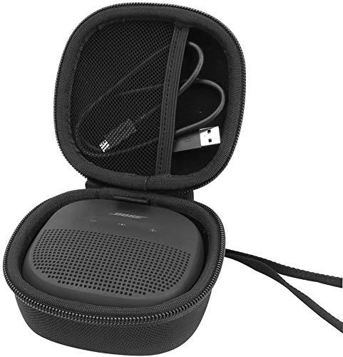pour Bose soundlink Micro Bluetooth Enceintes Étui Rigide Housse de Aenllosi-Noir