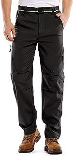 Toomett Winter Waterproof Hiking Pants Mens, Snowboarding Fleece-Lined Tactical Snow ski Outdoor Warm Pants