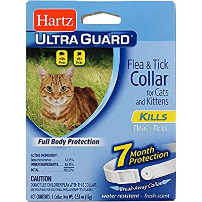Hartz UltraGuard Flea & Tick Cat and Kitten Collar, White 1 ea