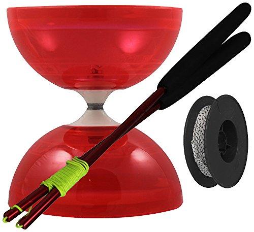 Juggle Dream Diábolo 'Typhoon', Palos de Control en Aluminio y Cuerda Profesional...