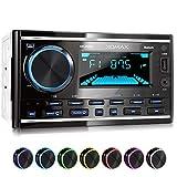 XOMAX XM-2R422 Autoradio avec Bluetooth I RDS I AM, FM I USB, AUX I 7 Couleurs d'éclairage réglables I 2 DIN