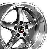 OE Wheels LLC 17 inch Rim Fits Ford Mustang Cobra R Wheel FR04B 17x10.5 Gunmetal Wheel