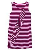 Gymboree Girls' Little Short Sleeve Ruffle Dress, Berry Stripe, M