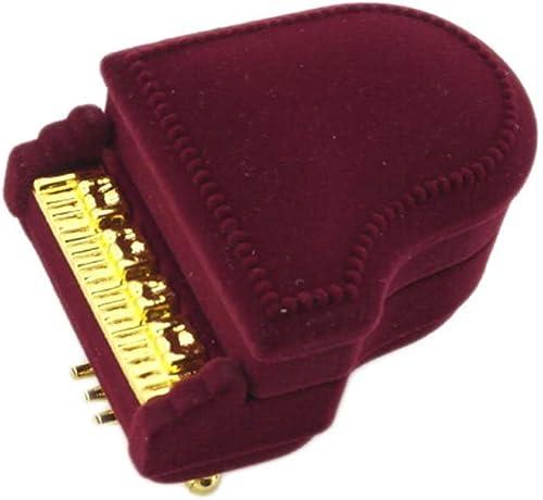 lowest Mallofusa discount New Piano Wedding Ring Box Earring sale Pendant Jewelry Treasure Gift Case sale